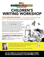 Teen Writing Workshop -  with bestselling Author Alice Kuipers