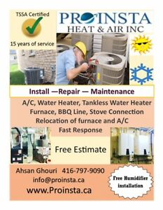 Furnace install and Repair