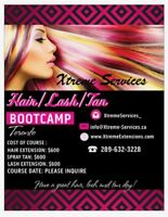 HAIR /LASH EXTENSIONS/ SPRAY TAN TRAINING COURSE $600 MOBILE