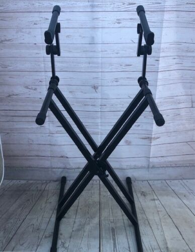 Quick Lok Double Tier - Double Braced Keyboard Stand