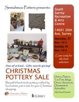 Semiahmoo Potters Christmas Pottery Sale