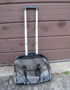 Gently used Faux Snake Rolling Briefcase Carry-on Travel Bag