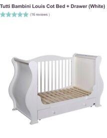 3-in-1 Cot Bed Tutti Bambini White Louis