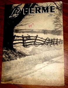 La FERME Magazine Feb.1946 $5.00
