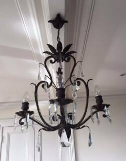 Vintage French Wrought Iron Chandelier Mosman Mosman Area Preview