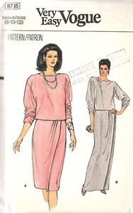 Choice of 6 New Uncut Easy VOGUE Patterns Size 8-10-12 $6 each