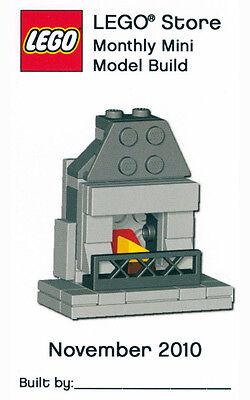 Constructibles  Fireplace Mini Model Lego  Parts   Instructions Kit