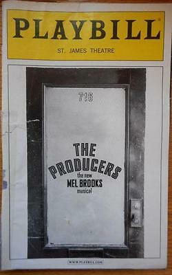 Damaged / Taped Spine Cover Playbill The Producers  Richard Kind  Alan Ruck 2005](Broken Spine)