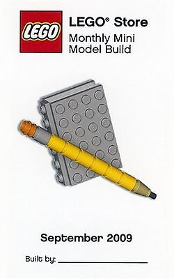 Constructibles  Book   Pencil Lego  Mini Build Parts   Instructions Kit