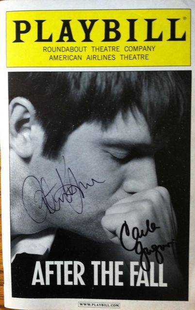 Cast Signed Playbill After The Fall  Peter Krause Carla Gugino Jessica Hecht +11