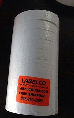 SATO AVERY/DENNISON  180/216 WHITE LABELS  *10 ROLLS OF 1,500 LABELS*15,000 LBLS
