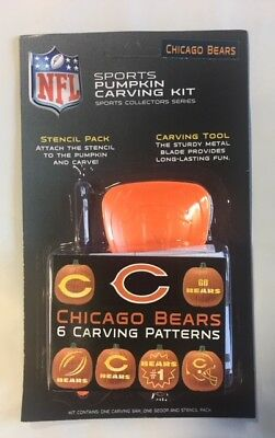 Halloween Carvings For Pumpkins (Chicago Bears Pumpkin Carving Kit Halloween Stencils for)