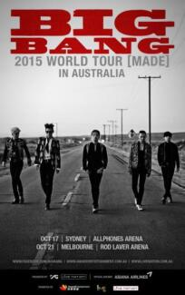 Bigbang Big Bang Sydney Made Tour Category 1 tickets ticket x 2 Fairfield Fairfield Area Preview
