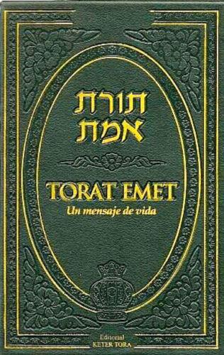 TORAT EMET - Biblia hebrea judía. Jumash. La Tora comentada y graficos. Haftarot