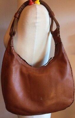 Henry Cuir Beguelin Camel Cognac Leather Shoulder Bag Hand Bag w Shoulder  Strap e7d1e6a73bc2c
