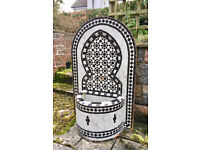 Outdoor/indoor traditional mosaic fountain - black/white or color