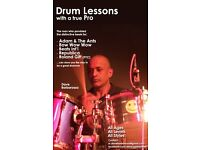 One to one drum lessons with Dave Barbarossa of Adam Ant, Bow Wow Wow, Republica, Roland Gift..