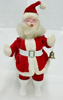 VINTAGE SANTA CLAUSE IN VELVET SUIT WITH CELLULOID FACE