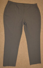 BNWT ATMOSPHERE womens ELEGANT trousers GREY size 20 small houndstooth pattern