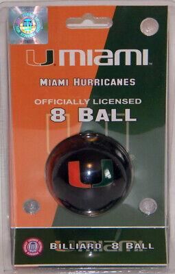 NEW! NCAA Wave 7 Miami Hurricanes Licensed Collector Series 8 Ball-Billiard/Cue
