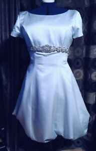 Ice Blue Prom Dress with Puff Skirt, Size M
