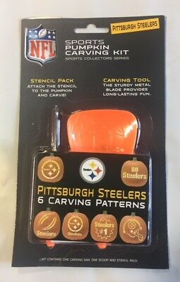 Pittsburgh Steelers Pumpkin Carving Kit Halloween Stencils for Jack-O-Lantern (Halloween Pumpkin Carving Stencils)