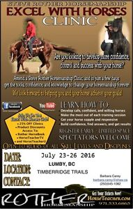 STEVE ROTHER HORSEMANSHIP CLINIC July 23-26 2016