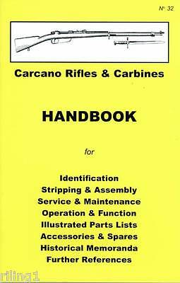 Carcano Rifle & Carbines Assembly, Disassembly Owner's Manual