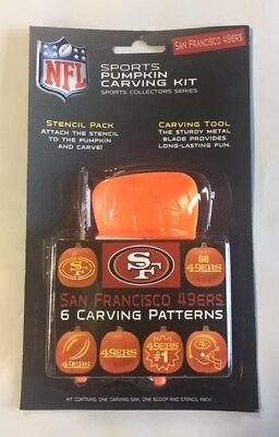 Halloween Carvings For Pumpkins (San Francisco 49ers Pumpkin Carving Kit Halloween Stencils for)