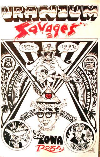Uranium Savages 1992 at La Zona Rosa AUSTIN... Original poster SCARCE