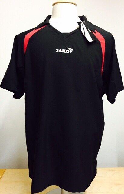 JAKO Trikot Sporthemd Funktionsshirt Shirt schwarz Kurzarm Herren XL/XXL NEU