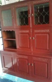 VERY NICE DISPLSY CABINET WITH LIGHT AND DRINK BAR