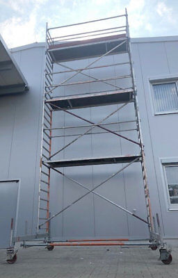 Layher/Assco Fahrgerüst Arbeitshöhe 8,60 m Rollgerüst, Alugerüst