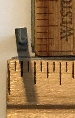 Vintage Antique Metal Printer Printing Press Block Tiny Letter J 7664