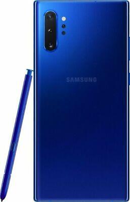 SR Samsung Galaxy Note 10+ Plus (SM-N975U) 256GB Aura Blue GSM+CDMA Unlocked
