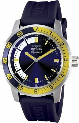 3dbb09703a5 New Mens Invicta 7461 Signature II Blue Dial Blue Rubber Strap Watch  comprar usado Enviando para