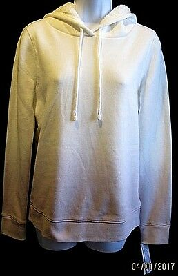 Women Pullover Hooded Sweatshirt Faux Fur Lined SONOMA Soft Orchid Sz XS New Faux Fur Hooded Pullover