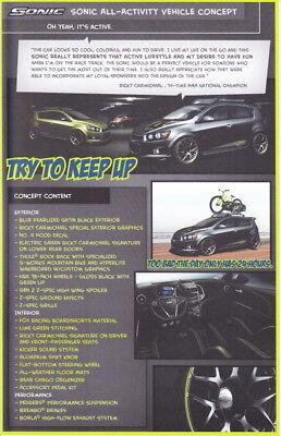 2011 Ricky Carmichael Chevy Sonic All Activity Concept Sema Show Promo Info Card