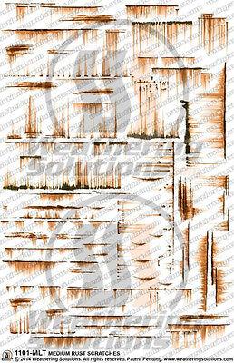 Weathering Decals Medium Rust Scratches 1101-MLT