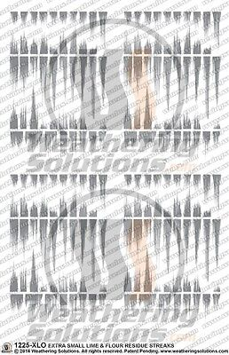 Weathering Decals Extra Small Lime & Flour Residue Streaks 1225-XLO