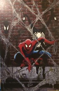 34 X 22 1988 MCFARLANE SPIDERMAN WOODEN POSTER 1/2 INCH THICK