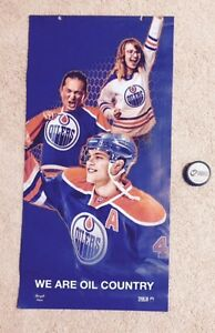 Oilers Rexall Concourse Taylor Hall Blue with Fans Banner 14-15 Edmonton Edmonton Area image 1