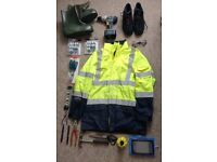 Assorted Workwear and Tools