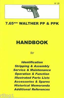 Walther PP & PPK 7.65mm Assembly, Disassembly Manual
