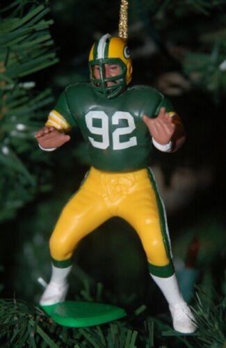 Reggie White Green Bay Packers Green Jersey NFL Christmas Tree Football Keepsake