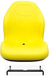 John Deere Yellow Mower Seat W/Bracket Fits LX Series LX172 LX176 LX188 ETC