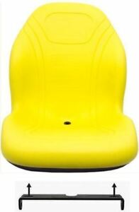 John Deere Yellow Seat w/bracket Fits 425 445 455 4100 4115 Replaces AM879503