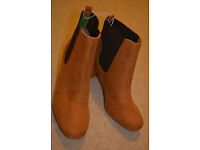 BNWT Primark tan boots Size 9/43 wide fit extra comfort