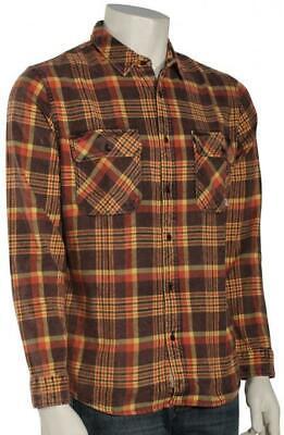 QUIKSILVER Men's BEST TANG Flannel Shirt - KTA1 - Large - (Best Mens Flannel Shirts)