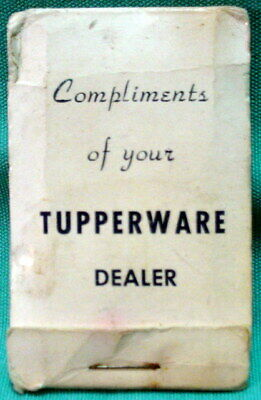 Vintage Tupperware Dealer Pack of Advertising Nail Files (Matchbook Style)